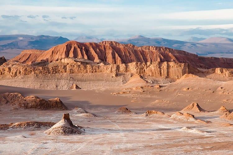Maanvallei in de Atacama woestijn