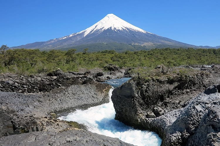 Osornovulkaan, merengebied