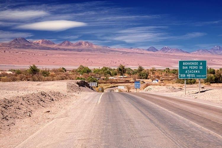Toegangsweg naar San Pedro de Atacama