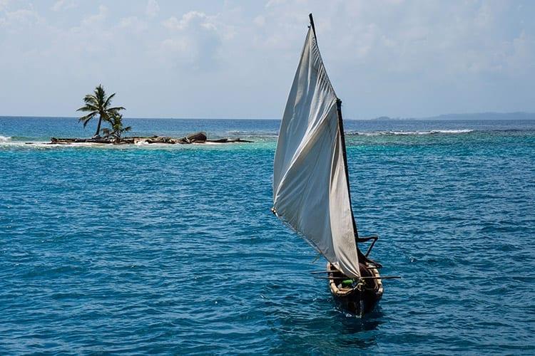 San Blas-eilanden zeilen