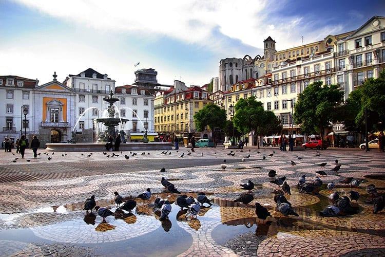 Rossio plein, Lissabon