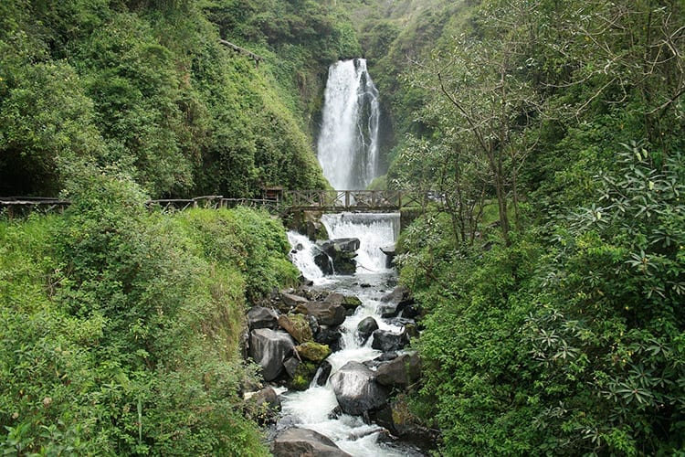 Peguche waterval
