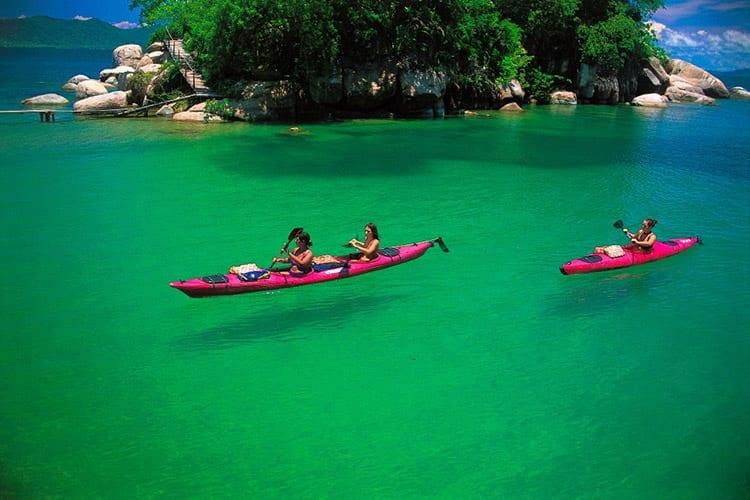 Kayakken bij Cape Maclear