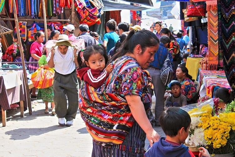 Indianenmarkt in Chichicastenango