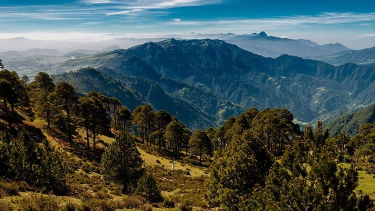 Tajamulco berg in de omgeving van Quetzaltenango