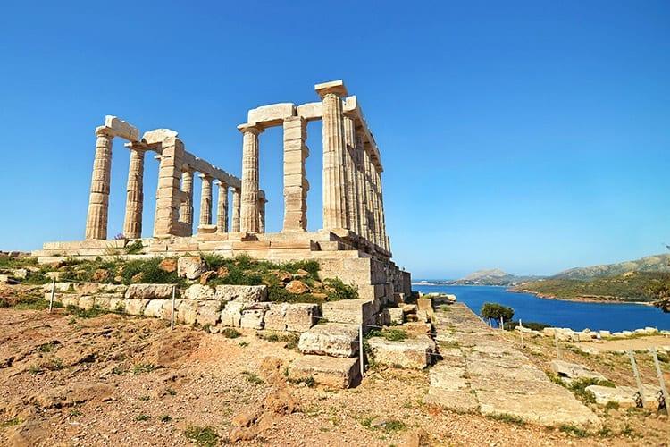 Kaap Soenion met de Tempel van Poseidon