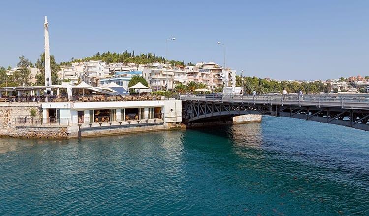 De oude brug van Chalkida