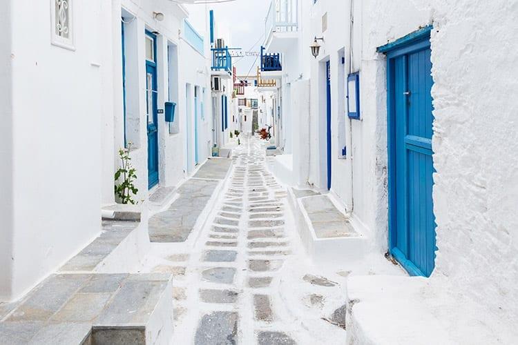 Straatje in Mykonos-Stad