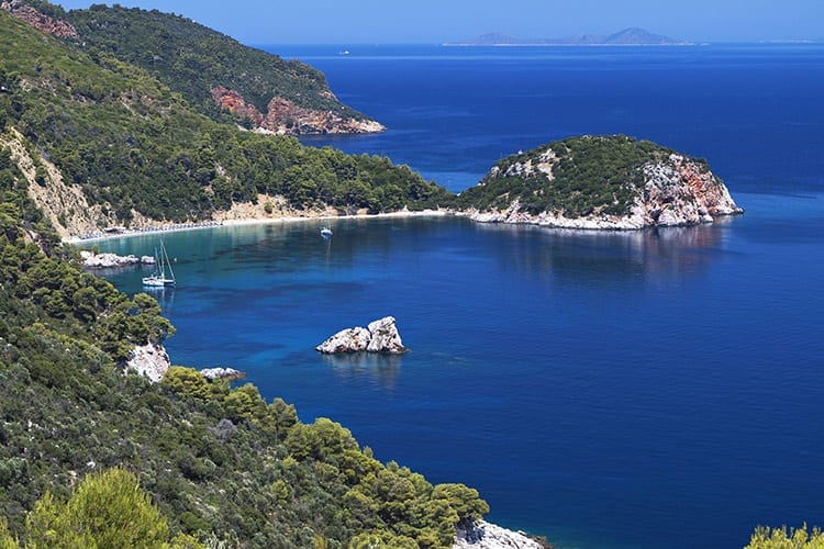 De baai van Stafylos, Skopelos