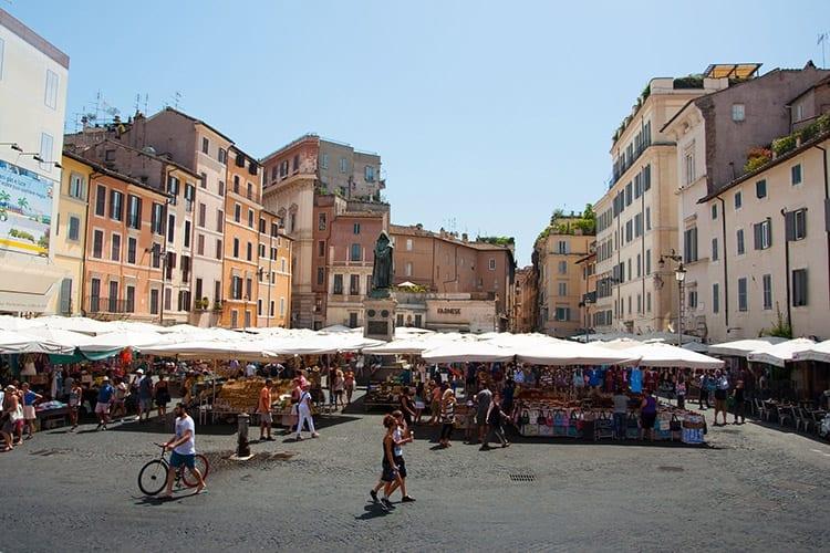 Campo de'Fiori plein, Rome