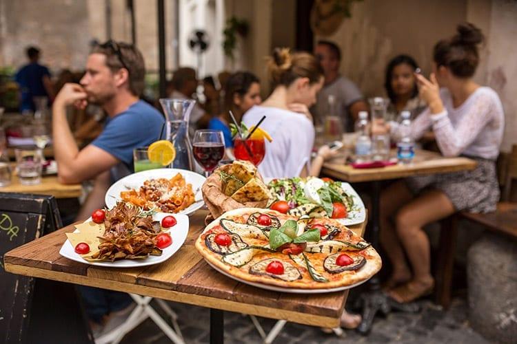Eten in Trastevere, Rome
