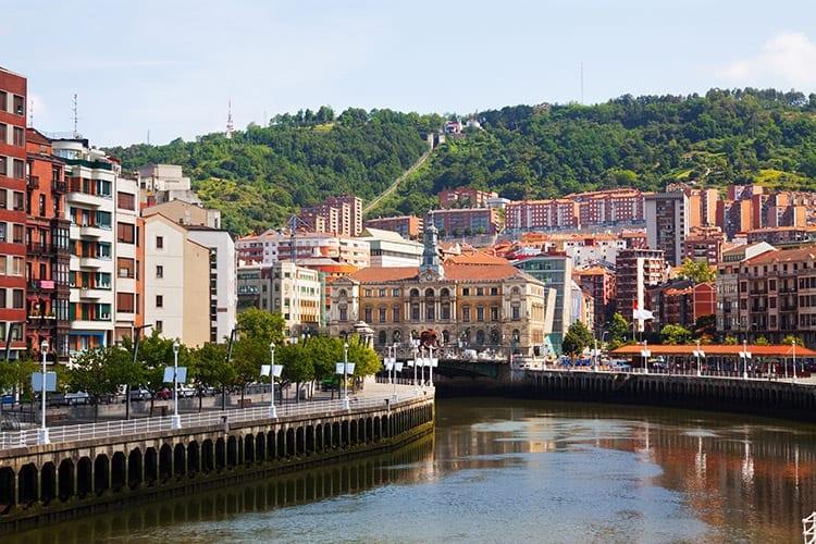 Nervión rivier, Bilbao