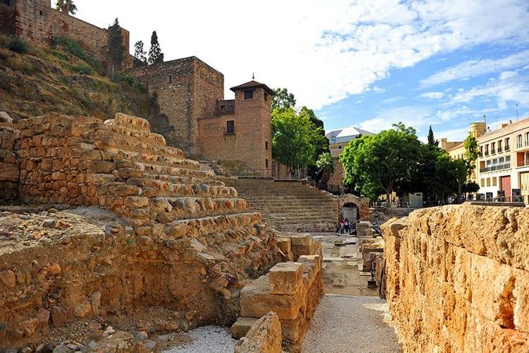 Alcazaba en het Romeinse theater, Málaga