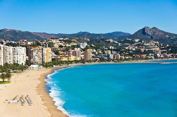 La Malagueta strand, Málaga