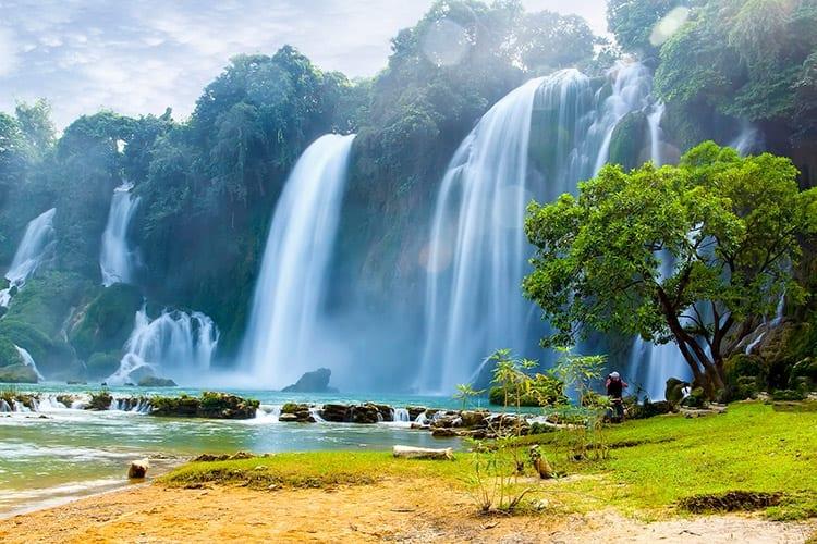 Ban Gioc watervallen, Vietnam