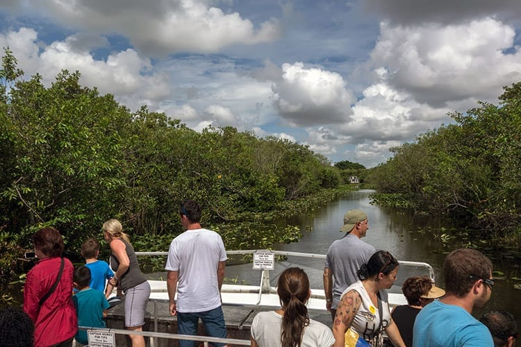 Everglades National Park per boot