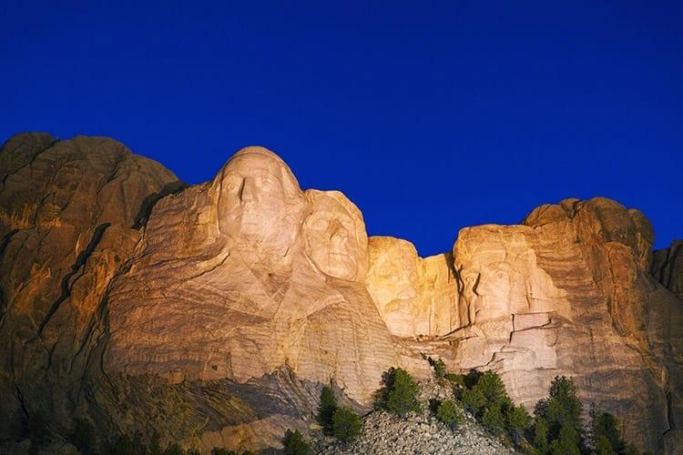 Mount Rushmore avondceremonie