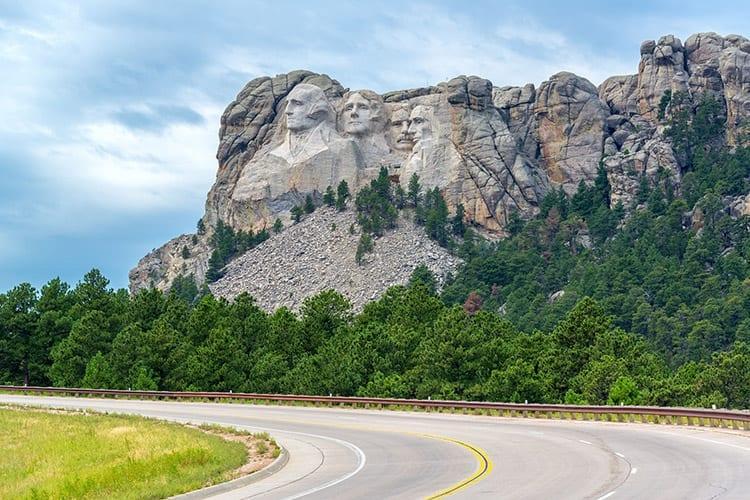 Mount Rushmore route