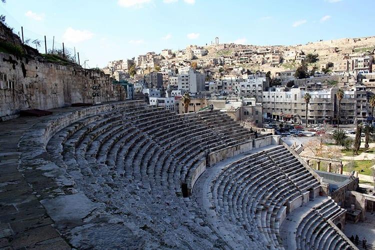 Het amfitheater van Amman