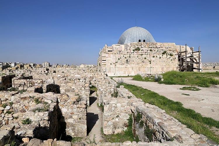 Ummayad Paleis in de citadel van Amman