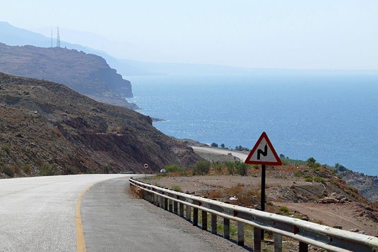 Kustweg langs de Dode Zee