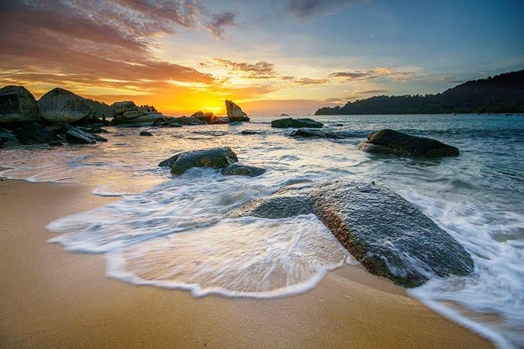Pasir Bogak strand, Pangkor
