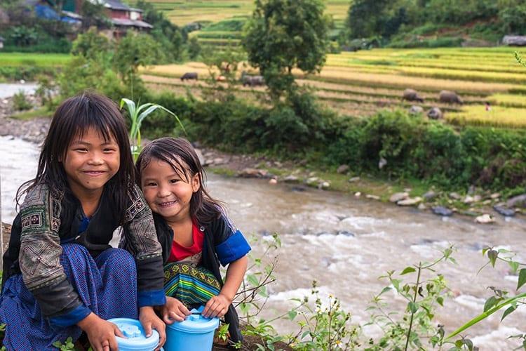 H'mong meisjes in Vietnam