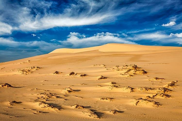 Witte zandduinen van Mui Ne