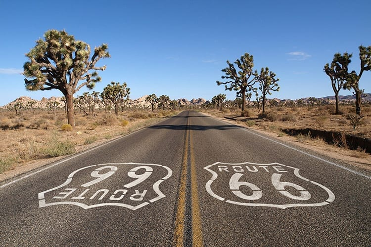 Route 66 in Joshua Tree National Park