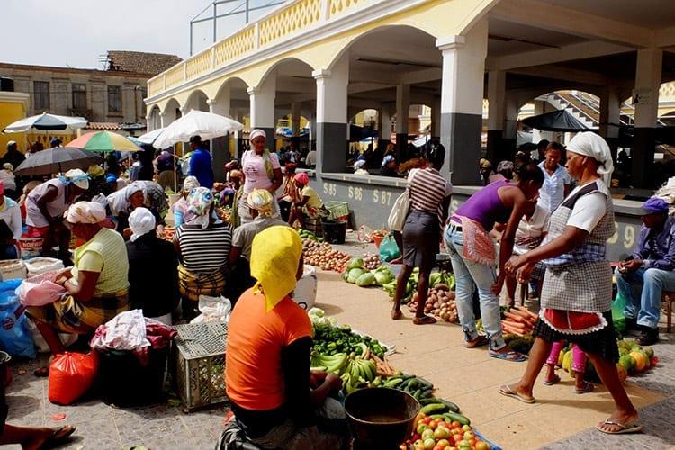 De markt van Assomada, Santiago, Kaapverdië