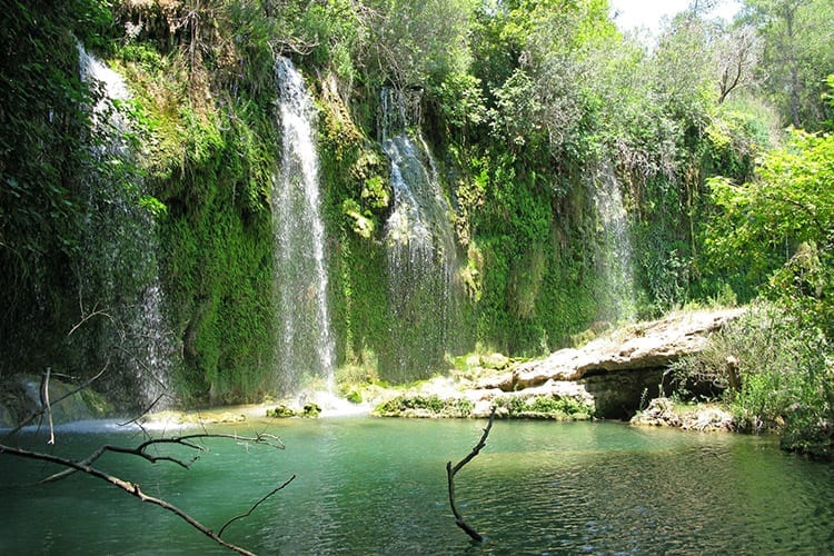 Kurşunlu watervallen, Antalya