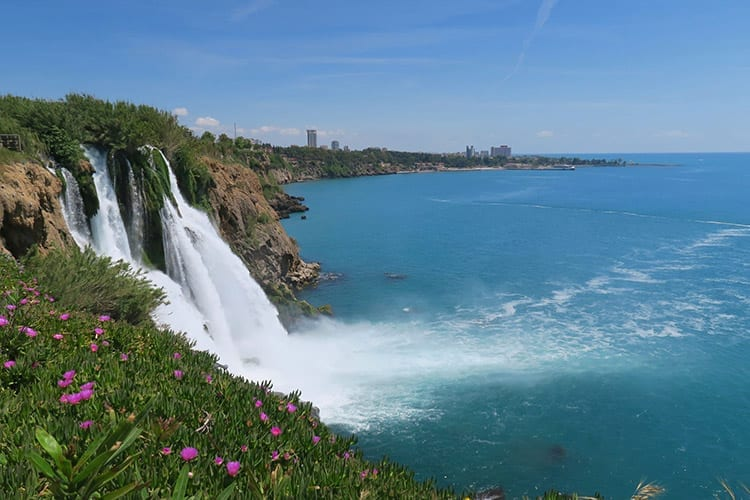 Düden watervallen bij Antalya