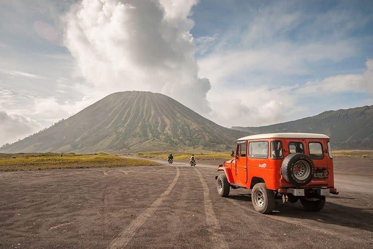 Bromo vulkaan jeep