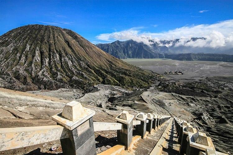 Bromo vulkaan trap