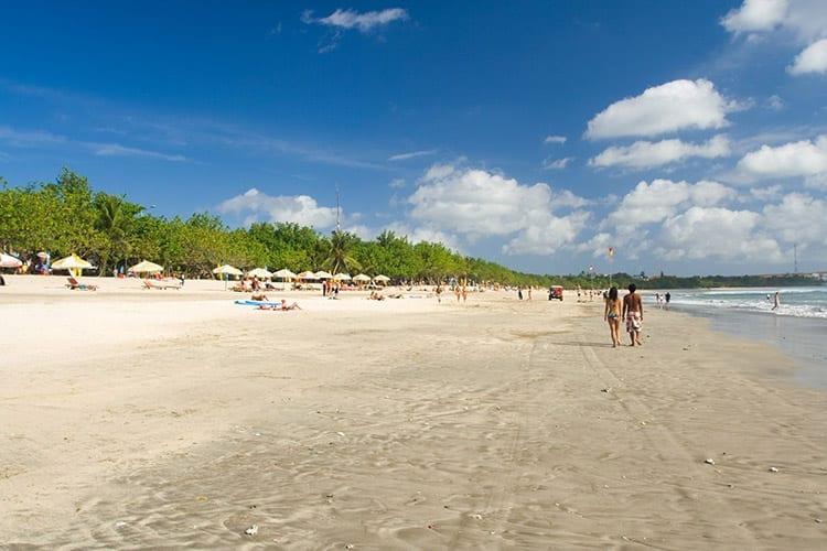 Strand van Kuta op Bali