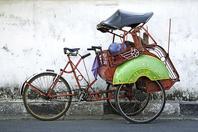 Becak, Yogyakarta
