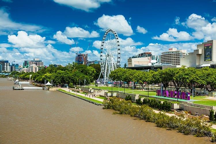 Brisbane Wheel aan de Southbank