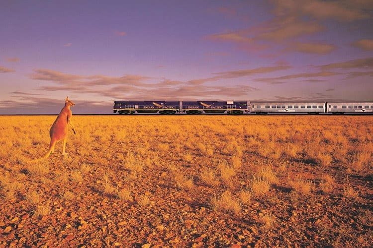 The Indian Pacific, Australië