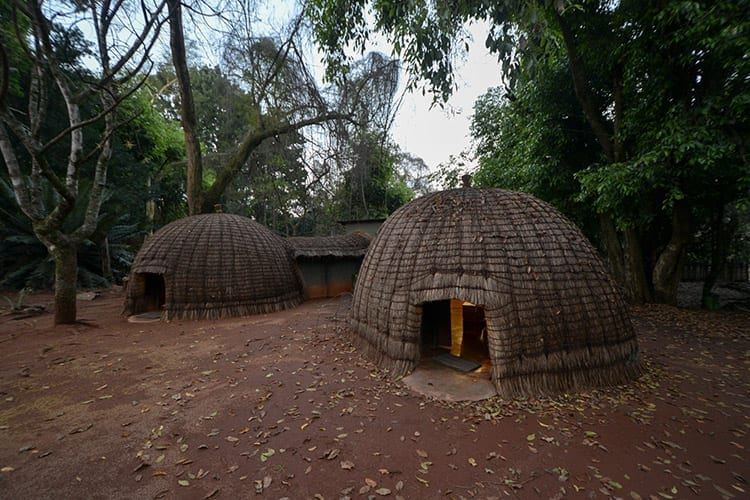 Traditionele huisjes in Swaziland