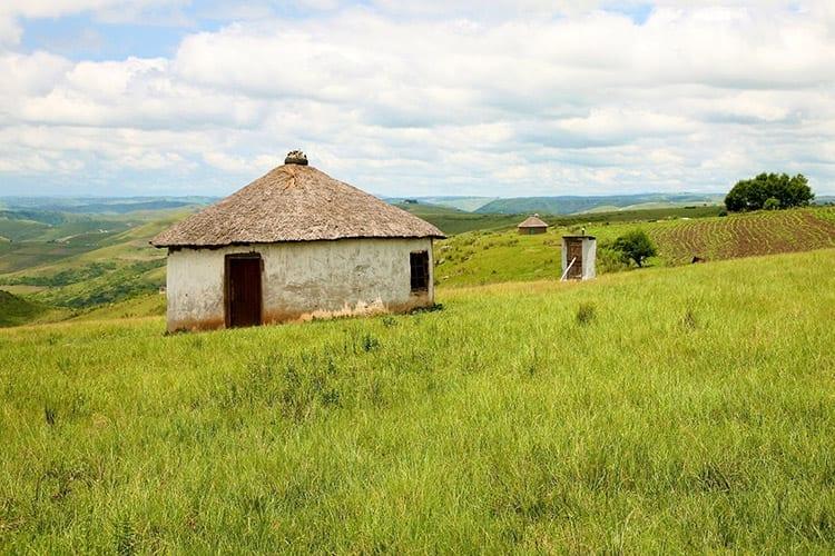 Traditionele Xhosa-huisjes in de Transkei