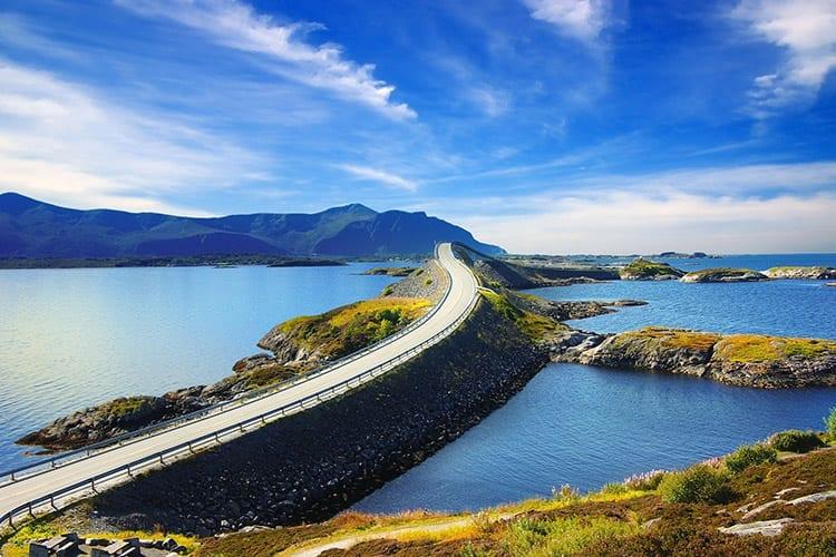 Atlantische weg in Noorwegen