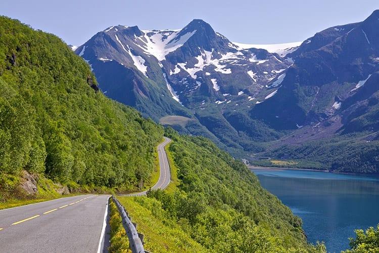 Kystriksveien, Noorwegen