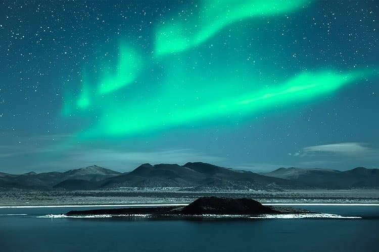 Noorderlicht boven Lofoten