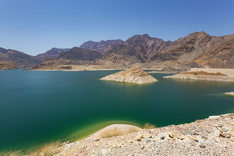 Wadi Dayqah Dam, kustroute Oman