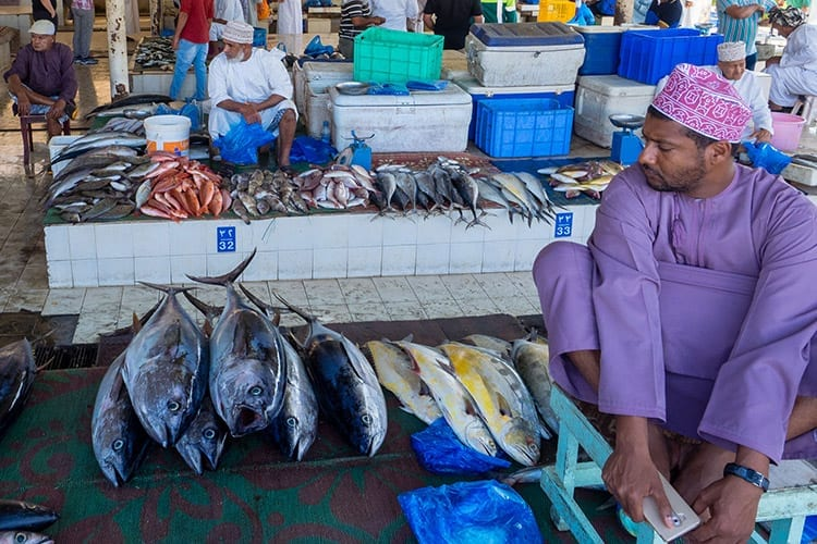 De vismarkt van Muscat