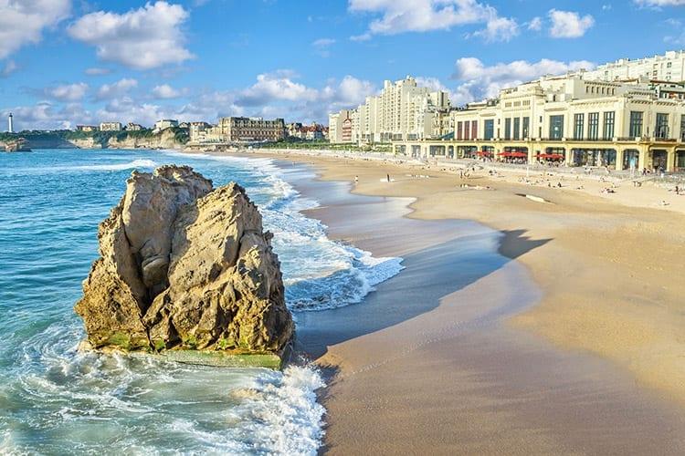 Grande Plage d'Hendaye, Biarritz, Aquitanië