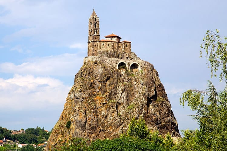 Chapelle Saint-Michel D'Aiguilhe in Le Puy-en-Velay, Auvergne
