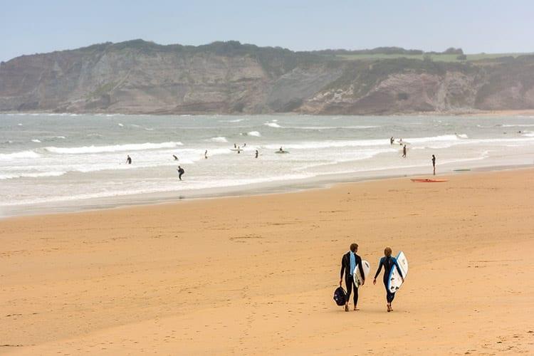 Grande Plage d'Hendaye strand, Bretagne