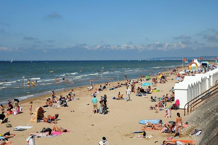 Cabourg strand, Normandië
