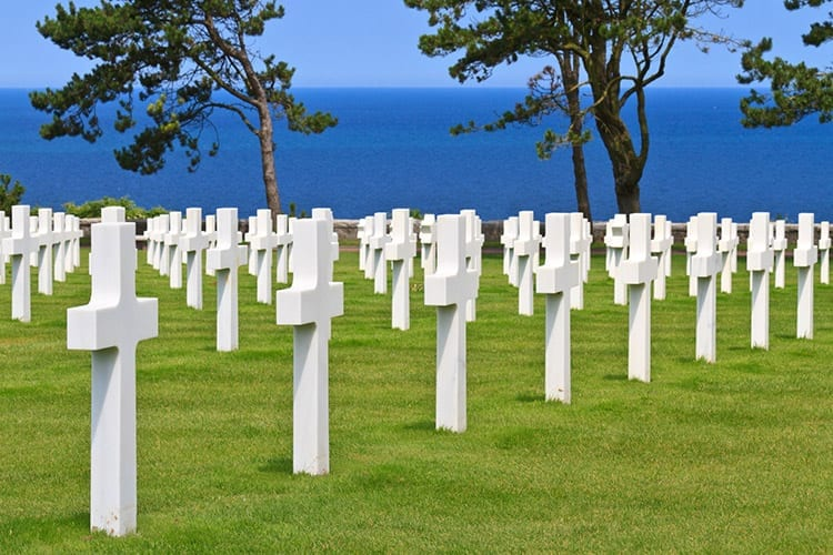 Normandy American Cemetery and Memorial bij Colleville-sur-Mer